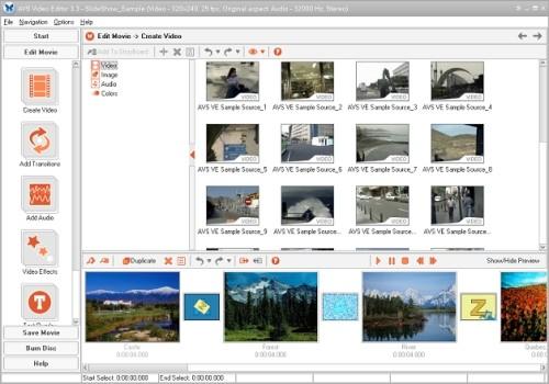 Capture d'écran AVS Video Editor