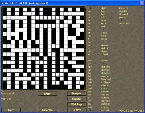 Capture d'écran Word-Fit