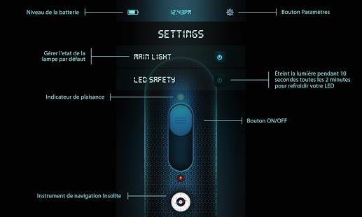 Capture d'écran Lampe de poche futuriste