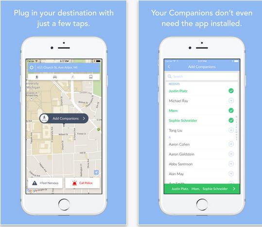 Capture d'écran Companion : Mobile Personal Safety