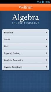 Capture d'écran Algebra Course Assistant