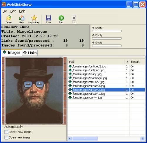 Capture d'écran 1ClickWebSlideShow
