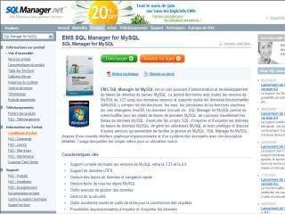 Capture d'écran EMS SQL Manager for MySQL