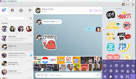 Capture d'écran Viber