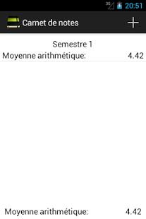 Capture d'écran Carnet de notes