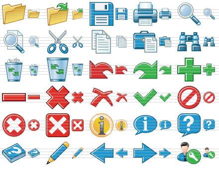 Capture d'écran Standard Toolbar Icons
