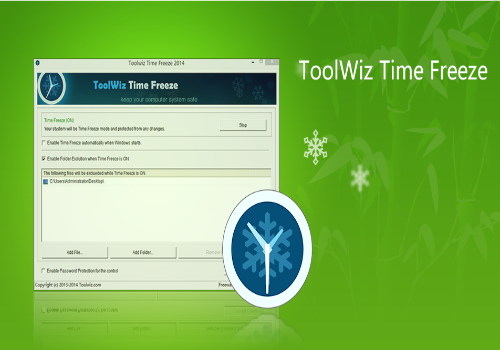 Capture d'écran Toolwiz Time Freeze