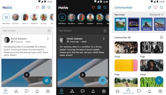 Capture d'écran MeWe Android