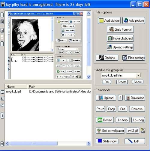 Capture d'écran Mypikyload