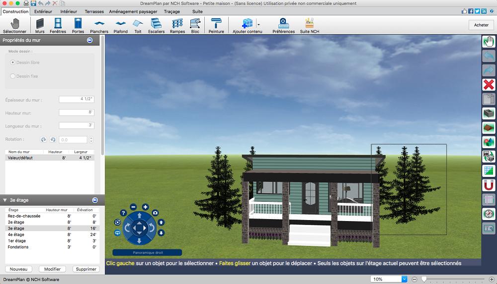 Capture d'écran DreamPlan – Aménagement intérieur et paysagisme pour Mac
