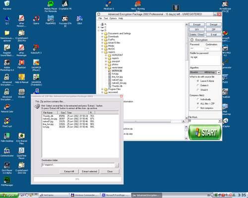 Capture d'écran Crypt4Free
