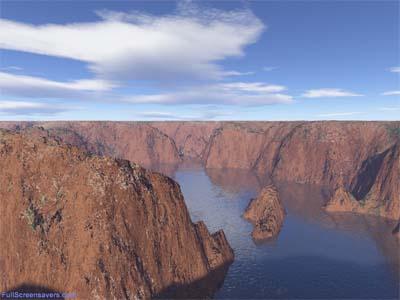 Capture d'écran Canyons Screensaver