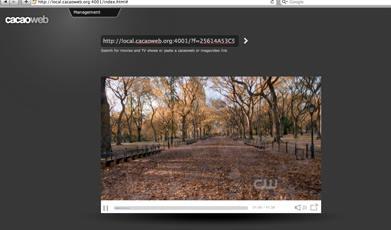 Capture d'écran Cacaoweb Mac