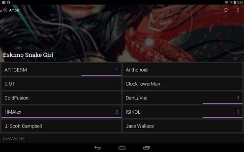 Capture d'écran Amber RSS Reader