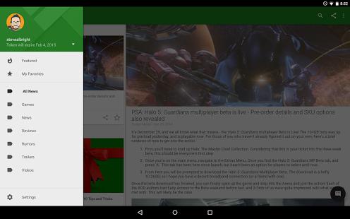Capture d'écran News for Xbox One