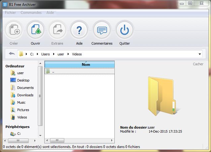 Capture d'écran B1 Free Archiver