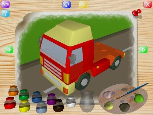 Capture d'écran Vehicles Coloring Book