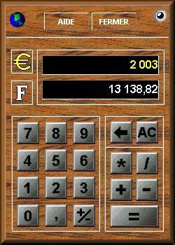Capture d'écran Euro Calculette