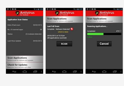 Capture d'écran Antivirus for Android