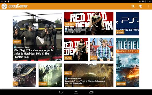 Capture d'écran Appy Gamer – L'actu Jeux Vidéo