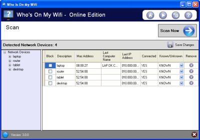 Capture d'écran Who's on my wifi