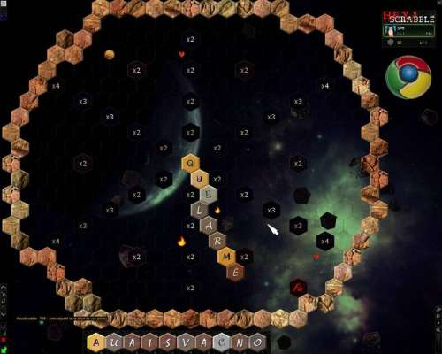 Capture d'écran HexaScrabble