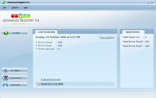 Capture d'écran Advanced Registry Fix