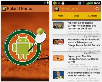 Capture d'écran Actualité Roland Garros Android