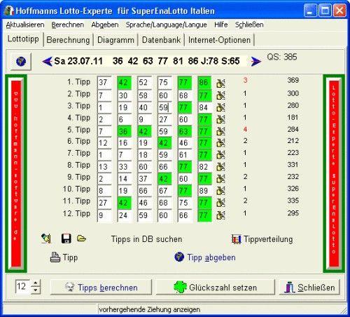 Capture d'écran Hoffmanns Lotto-Experte SuperEnaLotto
