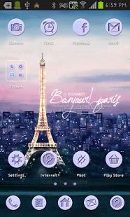 Capture d'écran Paris go launcher theme