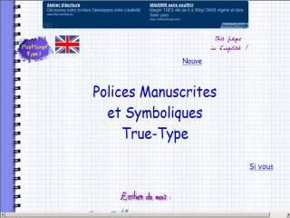 Capture d'écran 17 Polices Manuscrites True-Type