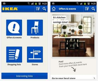 Capture d'écran IKEA Android