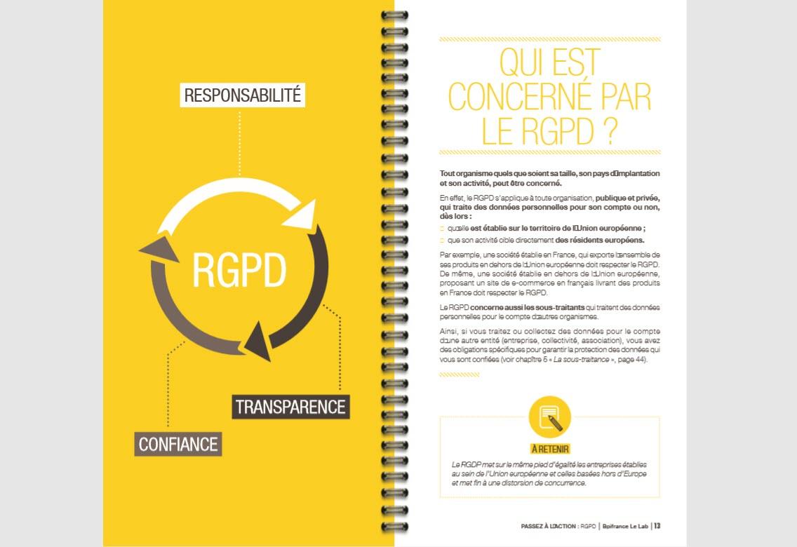 Capture d'écran Guide pratique de sensibilisation au RGPD