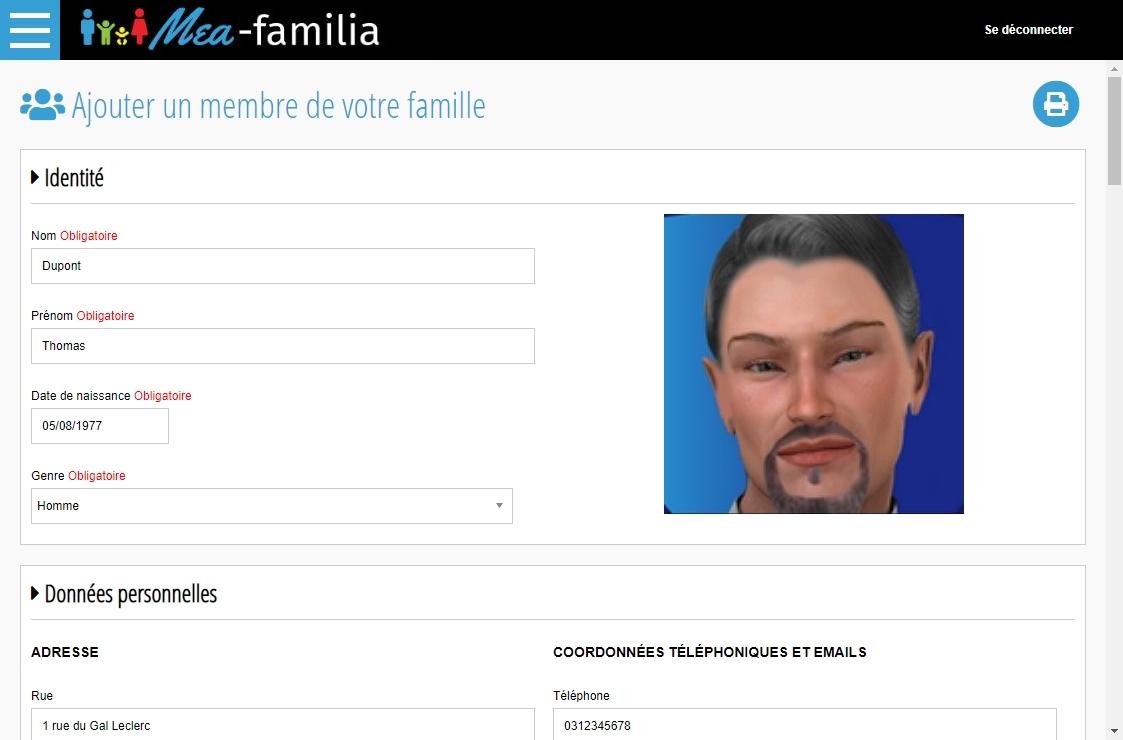 Capture d'écran Mea-familia