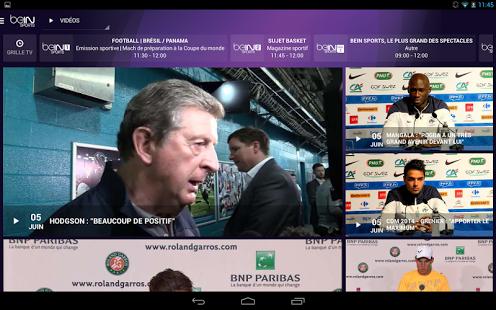 Capture d'écran BeIN SPORTS