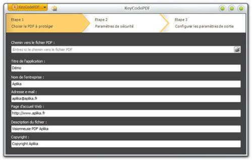 Capture d'écran KeyCodePDF