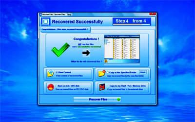 Capture d'écran Recover Lost Files Platinum