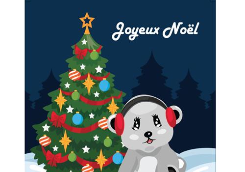 Capture d'écran Carte de Noël 2018 au format Word