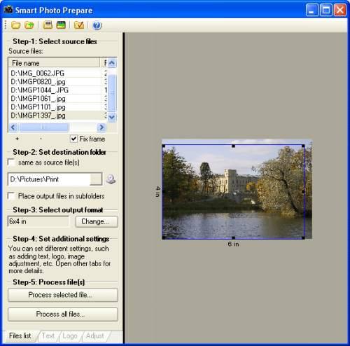 Capture d'écran Smart Photo Tools