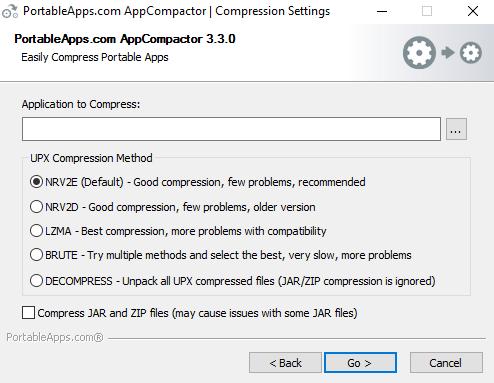 Capture d'écran AppCompactor