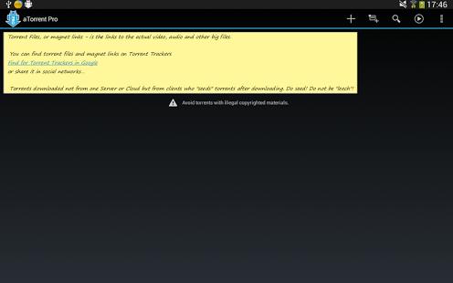Capture d'écran ATorrent PRO – App Torrent