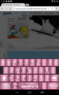 Capture d'écran Smurfette Keyboard