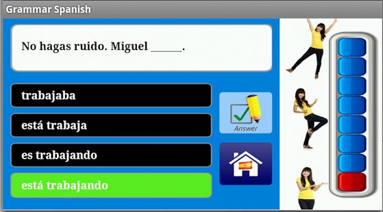 Capture d'écran Grammaire espagnole Free