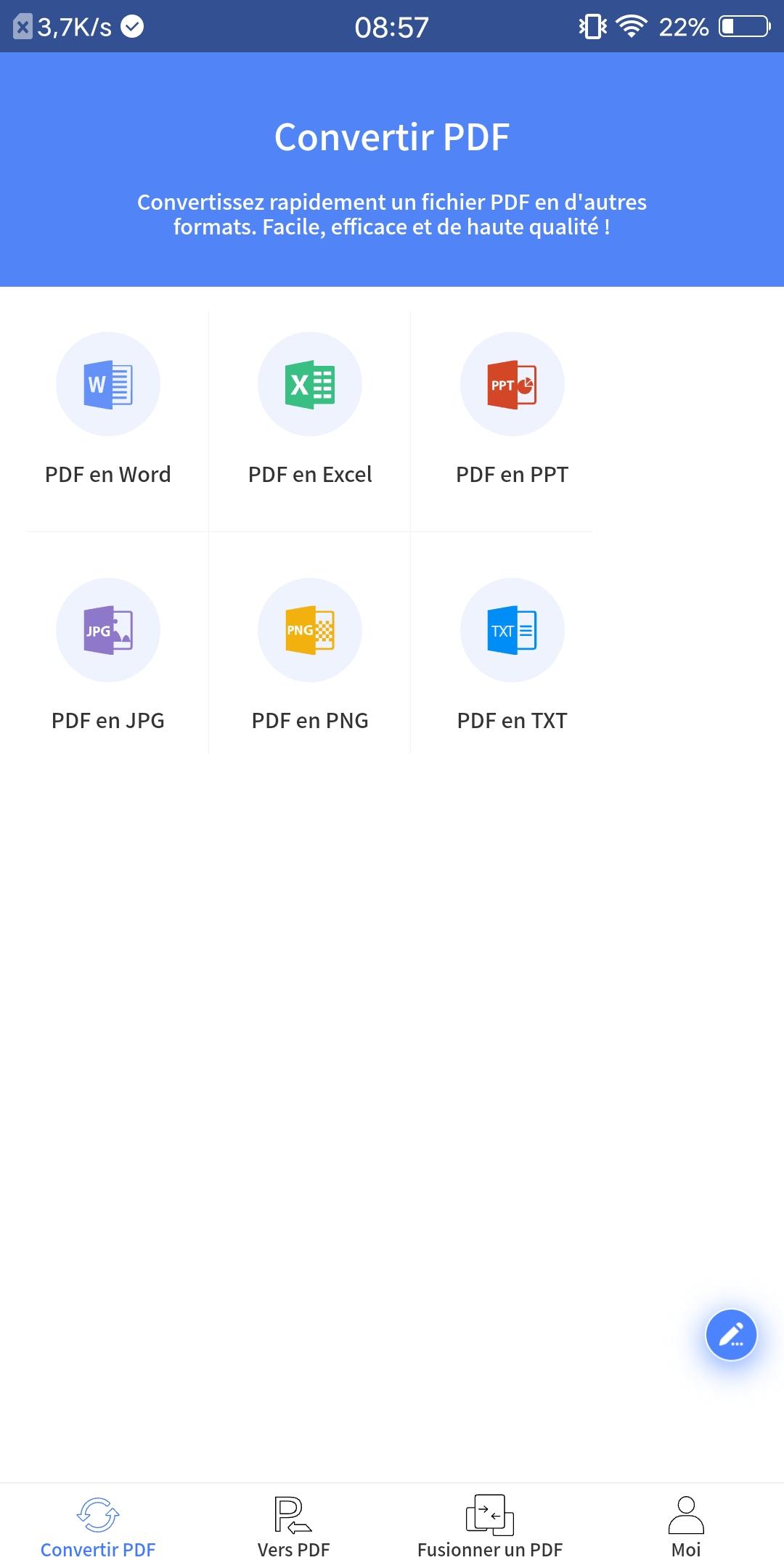 Capture d'écran Convertisseur PDF pour Android V1.0.0.7