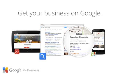 Capture d'écran Google My Business