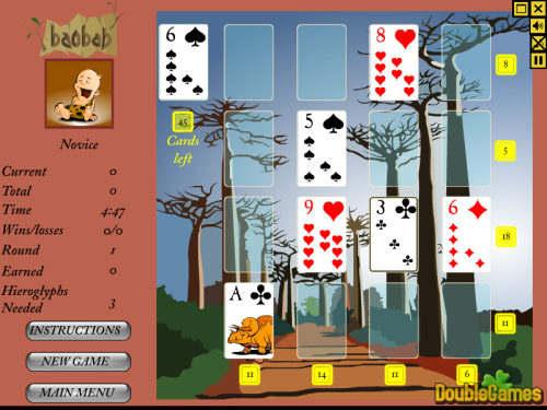Capture d'écran Baobab Solitaire