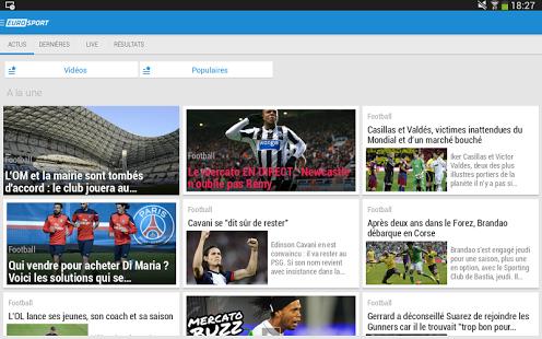 Capture d'écran Eurosport.com