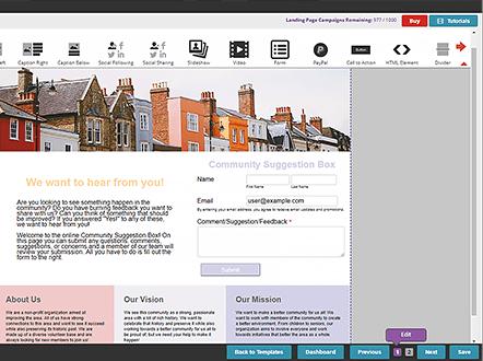 Capture d'écran Landing Page Generator