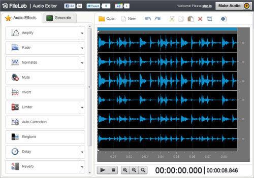 Capture d'écran FileLab Audio Editor
