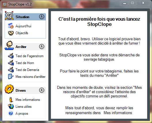 Capture d'écran StopClope